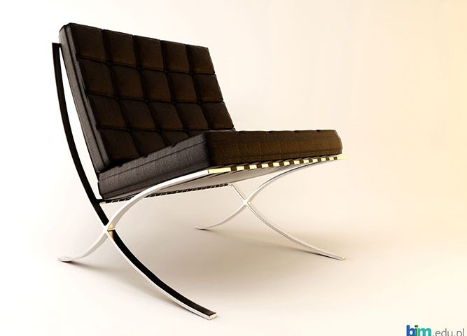 The Barcelona Chair 3ds max