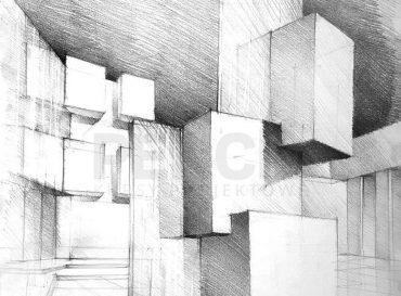 rysunek architektoniczny cieszyn rzezba